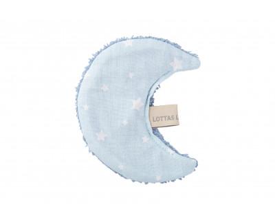 BAUMWOLL/FROTTEE KNISTERTUCH LUNA STAR - ICE BLUE