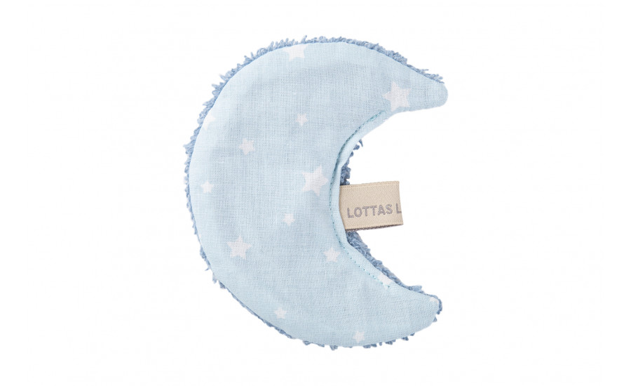 BAUMWOLL/FROTTEE KNISTERTUCH LUNA STAR - ICE BLUE