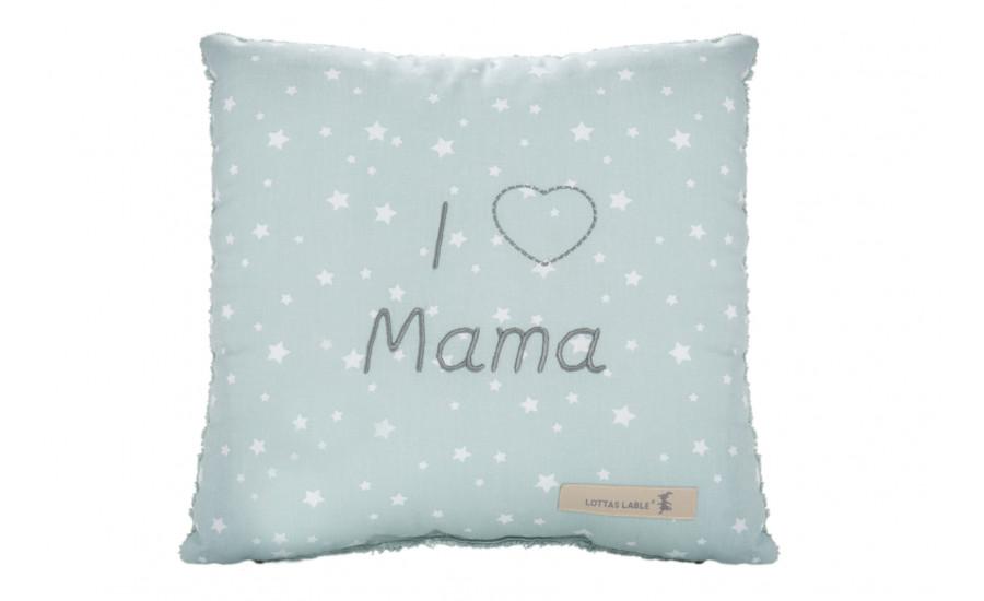 BOTSCHAFTSKISSEN - BAUMWOLL/FROTTEE KISSEN - I LOVE MAMA