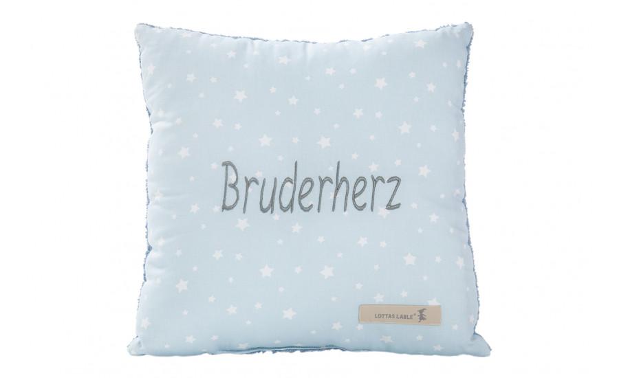 BOTSCHAFTSKISSEN - BAUMWOLL/FROTTEE KISSEN BRUDERHERZ