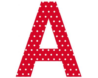 Buchstaben - Aufkleber -  A