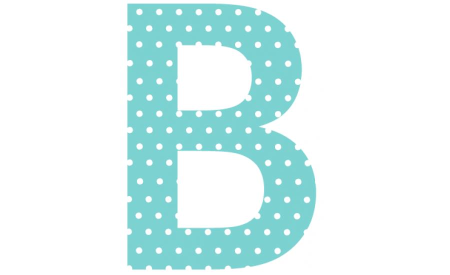 Buchstaben - Aufkleber - B