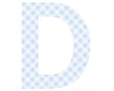 Buchstaben - Aufkleber - D