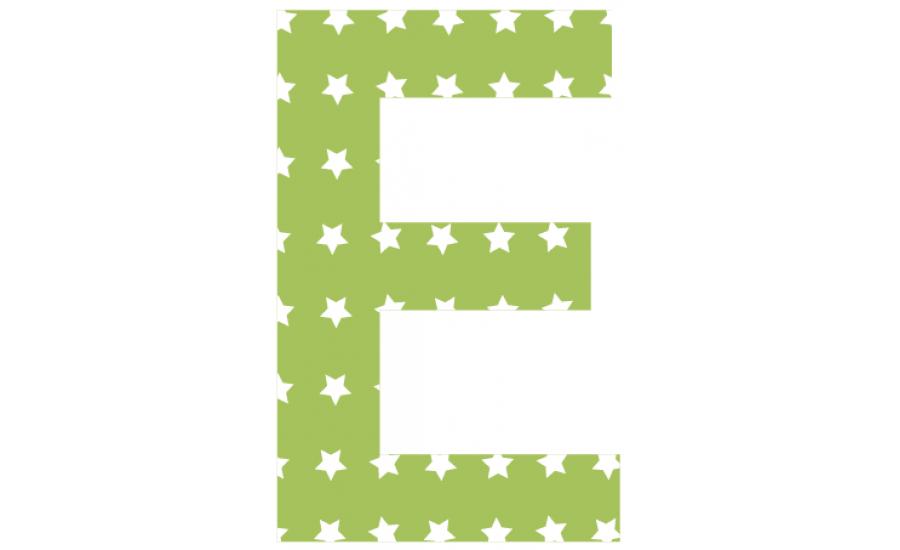 Buchstaben - Aufkleber - E