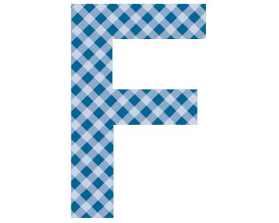 Buchstaben - Aufkleber - F