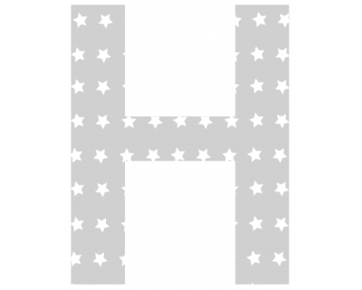 Buchstaben - Aufkleber - H