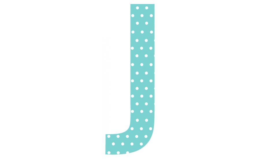 Buchstaben - Aufkleber - J
