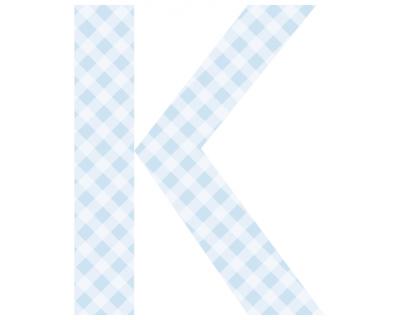 Buchstaben - Aufkleber - K