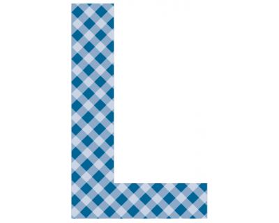 Buchstaben - Aufkleber - L