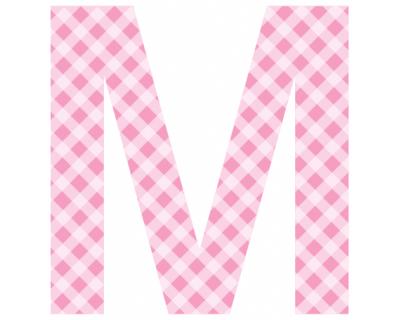 Buchstaben - Aufkleber - M