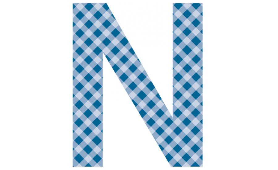 Buchstaben - Aufkleber - N