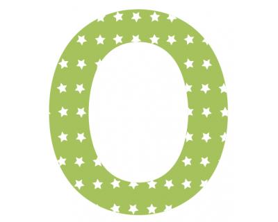 Buchstaben - Aufkleber - O
