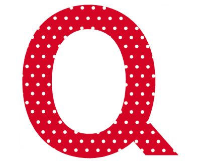 Buchstaben - Aufkleber - Q