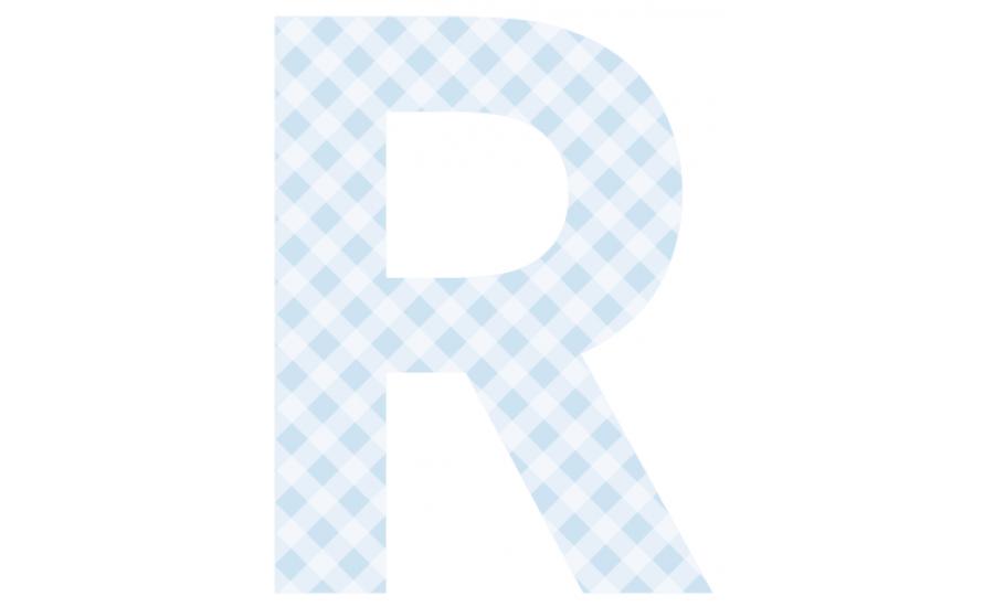 Buchstaben - Aufkleber - R