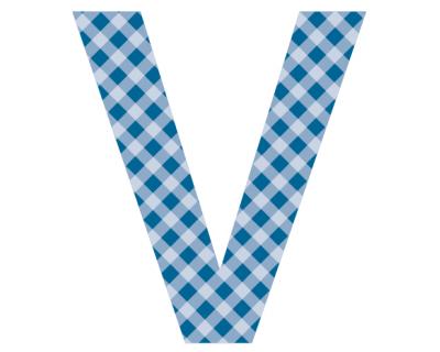 Buchstaben - Aufkleber - V