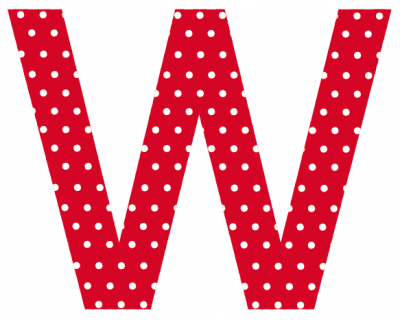 Buchstaben - Aufkleber - W