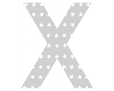 Buchstaben - Aufkleber - X
