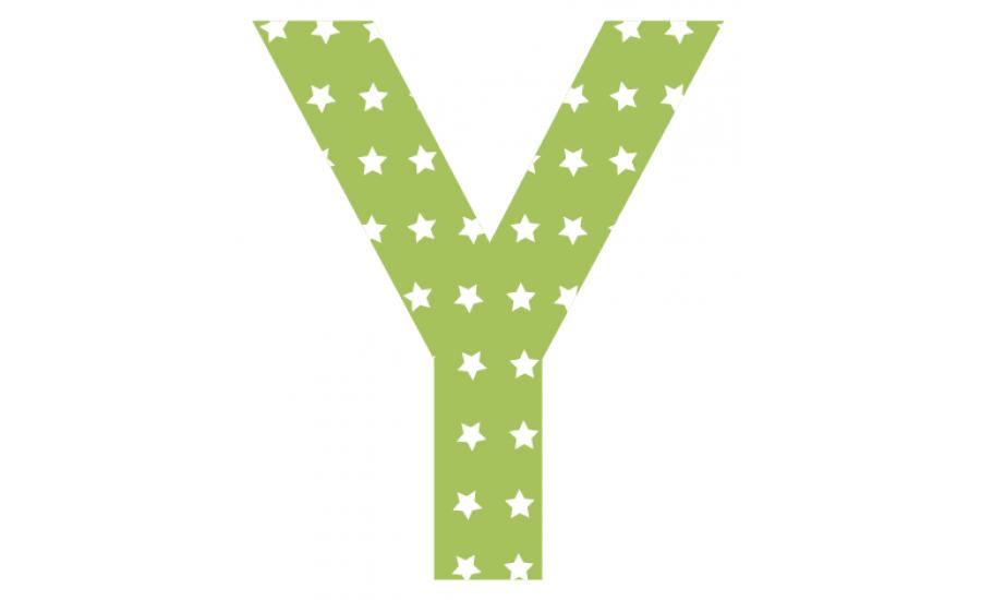 Buchstaben - Aufkleber - Y