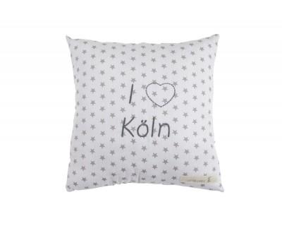 """Deko-Kuschelkissen """"I love..."""" grau"""