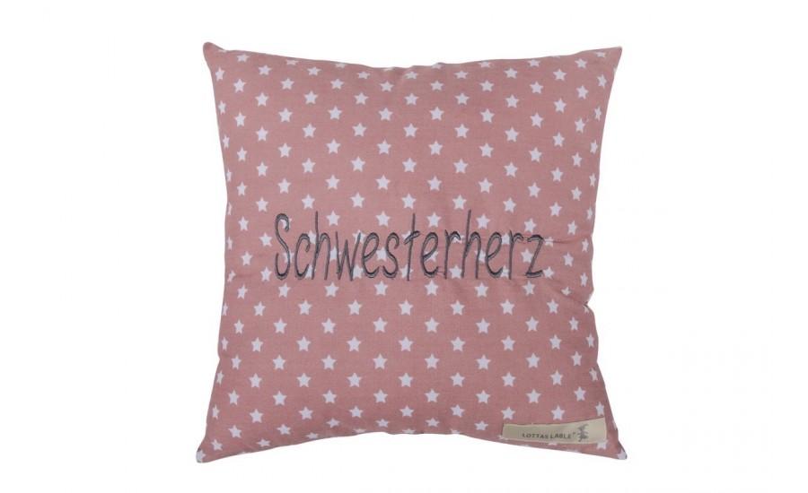 BOTSCHAFTSKISSEN SCHWESTERHERZ - ROSE - leider Ausverkauft !!!