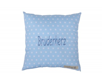 BOTSCHAFTSKISSEN BRUDERHERZ - LIGHT BLUE