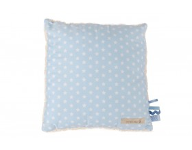 30x30 KUSCHELKISSEN DECO STAR - LIGHT BLUE