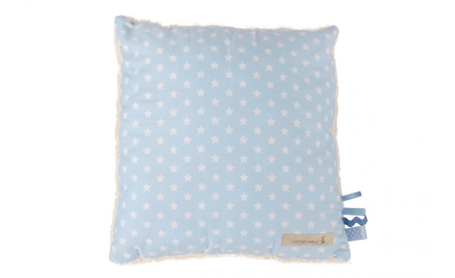 40x40 KUSCHELKISSEN DECO STAR - LIGHT BLUE