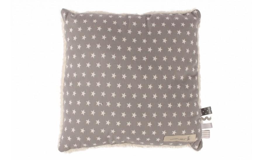 Deko-Kissen Stars grau 40x40