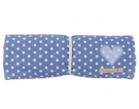 Wickelunterlage mit Utensilo Star jeans/hellblau