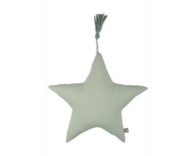 Kissen Jersey Serie Stern-Form soft grün