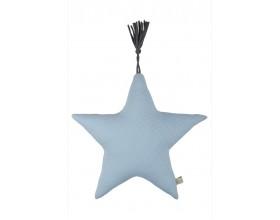 Kissen Jersey Serie Stern-Form pastell blau