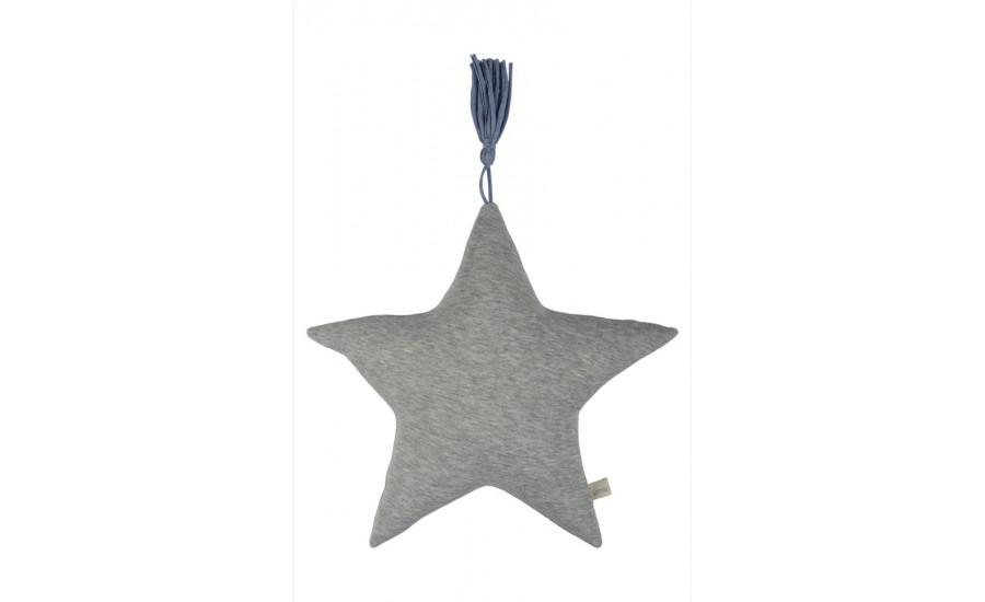 Kissen Jersey Serie Stern-Form grau