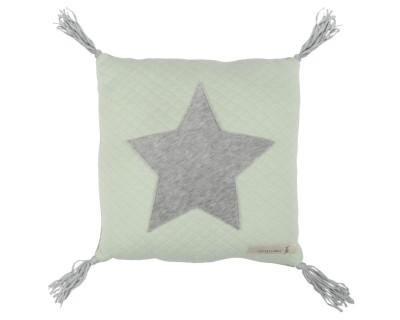 Kissen Jersey mit Applikation Stern soft grün