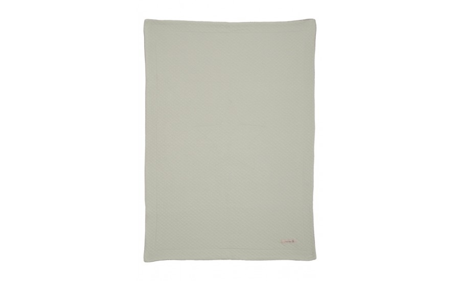 JERSEY/VELOUR DECKE QUILT STAR - SOFT GREEN