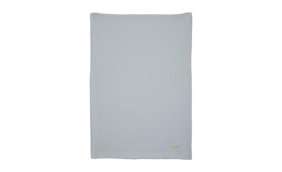 Jersey-Nicki-Decke pastell blau