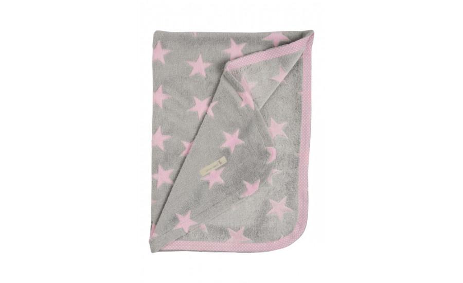 FLEECDECKE PINK STAR
