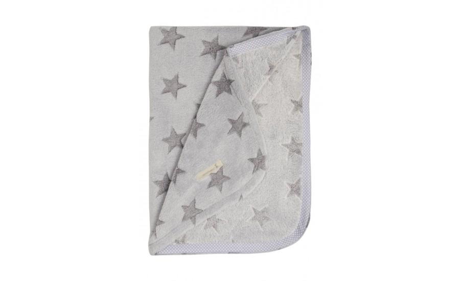 FLEECDECKE GREY STAR