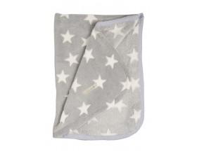 Fleecedecke Weiß Stern