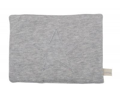 JERSEY/VELOUR WÄRMEKISSEN STAR MIX - PEBBLE GREY
