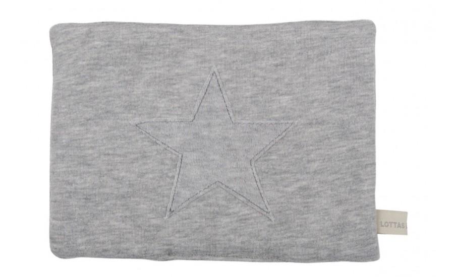 Wärmekissen mit Appl. Jersey Serie Stern grau