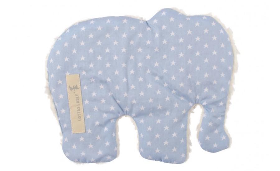 Wärmekissen in Elefantenform hellblau-mint