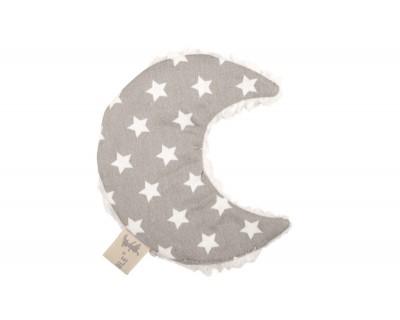 Knistertuch Mond Luna - Star grau