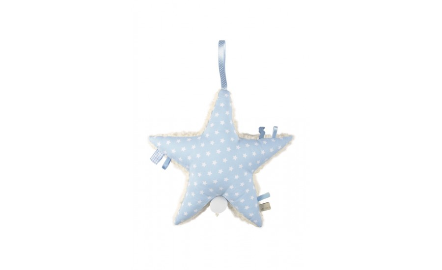 BAUMWOLLTEDDY SPIELUHR ARIS STAR - LIGHT BLUE