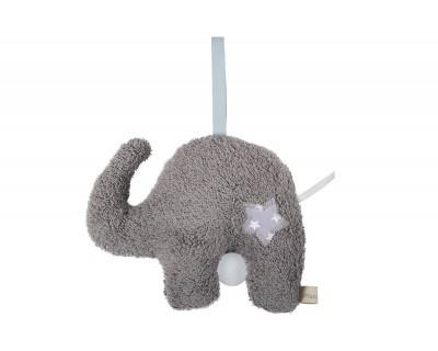 Spieluhr Zootiere Elefant grau
