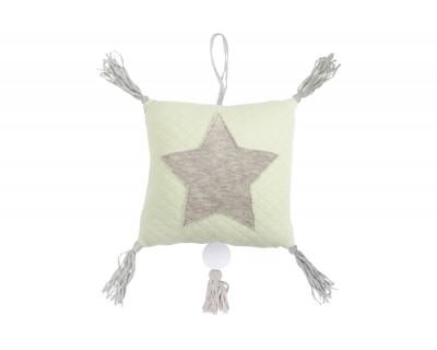 Spieluhr Jersey mit Appl. Stern soft grün