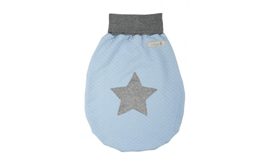 Schlafsack Jersey Serie mit Appl. Stern pastell blau
