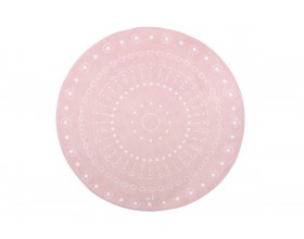 TEPPICHMATTE SOFTIE MANDALA - LIGHT PINK