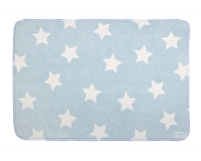 TEPPICHMATTE SOFTIE STAR - LIGHT BLUE