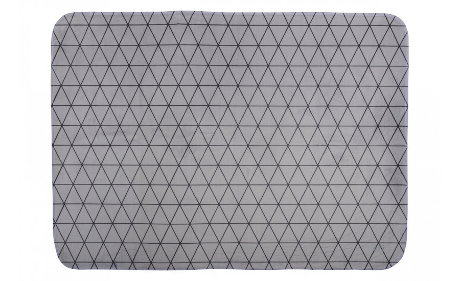 TEPPICHMATTE SOFTIE GRAFIC TRIANGLE - GREY