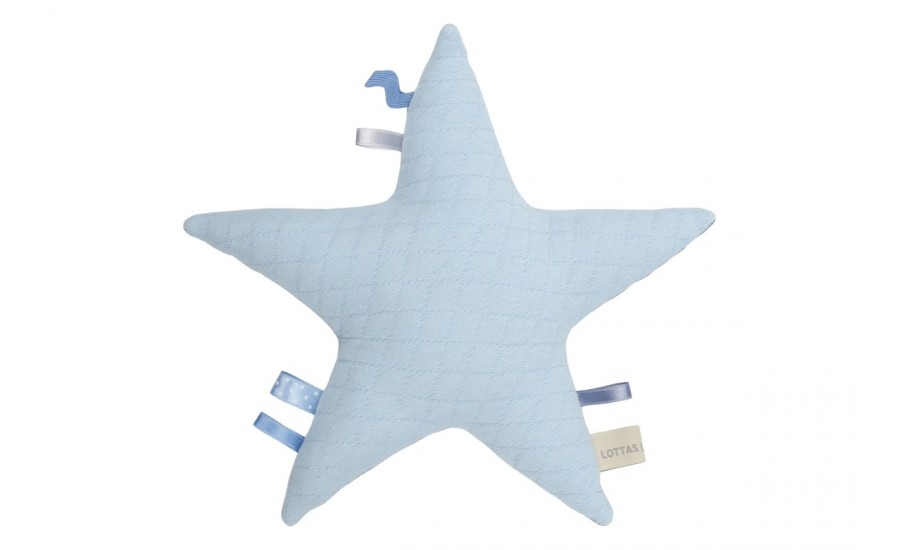 Sternen-Rassel Jersey Stern - pastell blue